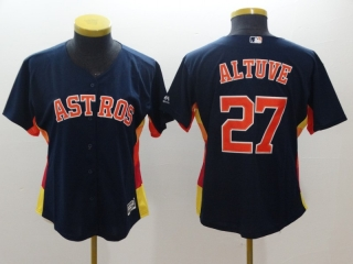 Wholesale Women's MLB Houston Astros Cool Base Jersey (37)