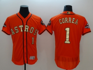 Wholesale Men's MLB Houston Astros 2018 Gold Program Flex Base Jersey (36)